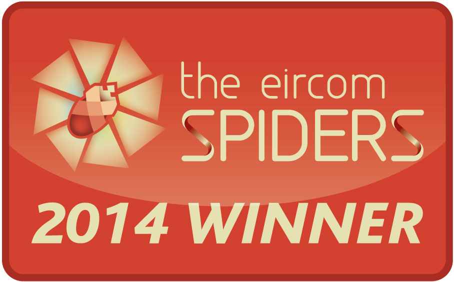 "Eircom Golden Spiders Awards. November 2014. ""Medical Exam Tutor."" Winner Education and E-Learning Category"